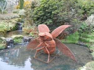 water beetle sculpture