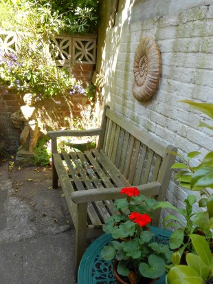 Outside the Kitchen Door -- my favourite place for peaceful contemplation