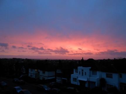 Red sky in the morning, shepherd's warning.