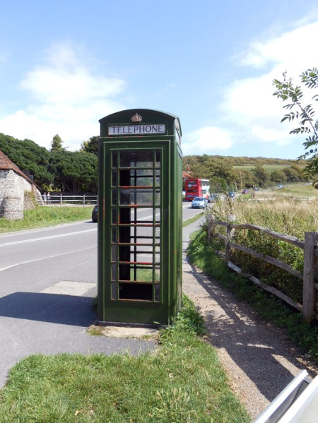 Green Telephone Box