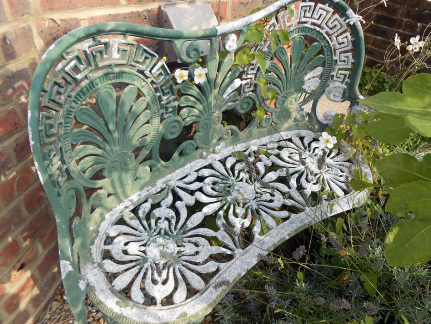 Old Wrought Iron Bench