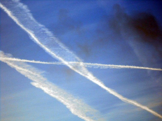 Vapour Trails Early morning #2