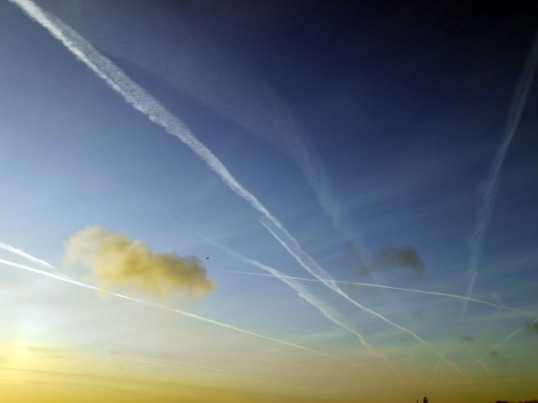 Vapour Trails Early  morning