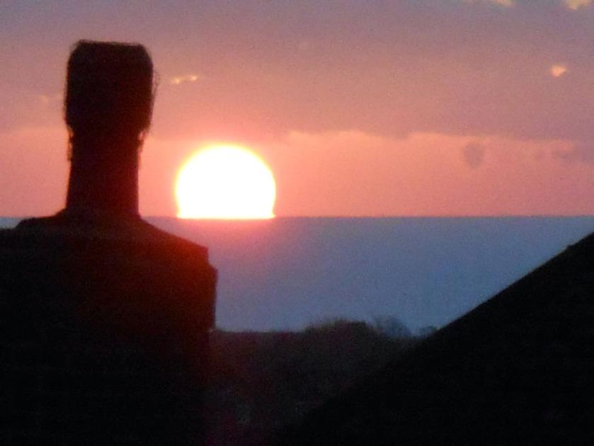 chimney pot & rising sun
